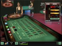A view of an online roulette table